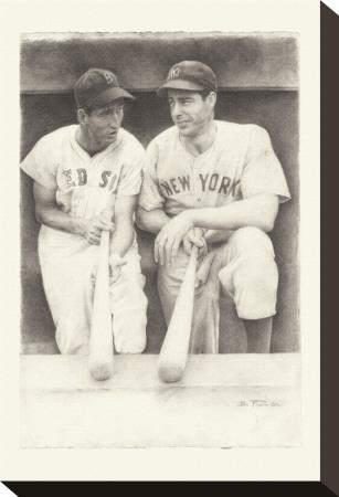 Ted and Joe Bedruckte aufgespannte Leinwand von Allen Friedlander