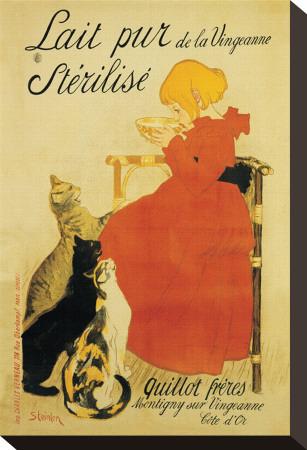 Lait Pur Stretched Canvas Print by Théophile Alexandre Steinlen