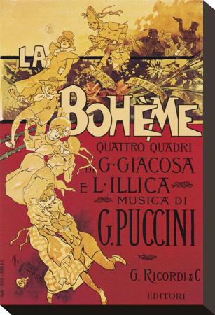 Puccini, La Boheme Stretched Canvas Print by Adolfo Hohenstein