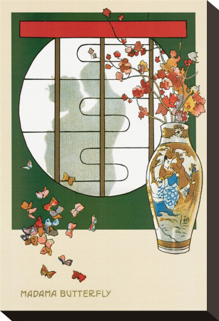 Opera Madama Butterfly Stretched Canvas Print