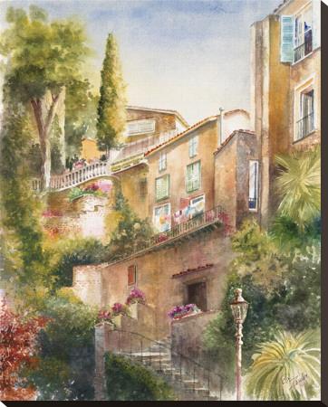 Lagodi Bracciano Highrise Stretched Canvas Print by Rita Zaudke