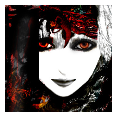 Gate Keeper: Scarlet and Yellow Giclee Print by Meiya Y