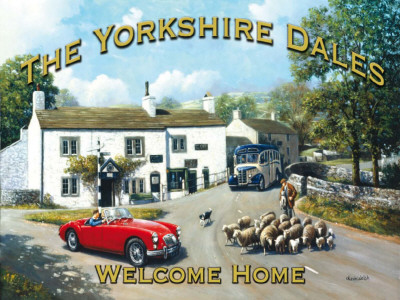 The Yorkshire Dales Tin Sign