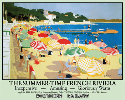 The Summertime French Riviera Plaque en métal