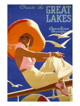 Cruise the Great Lakes Premium Giclee Print