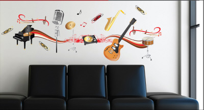 Music Instruments Wall Decal