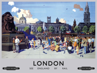 London Trafalgar Tin Sign