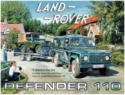 Land Rover Defender 110 Plaque en métal