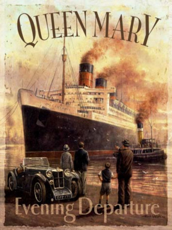 Queen Mary Tin Sign