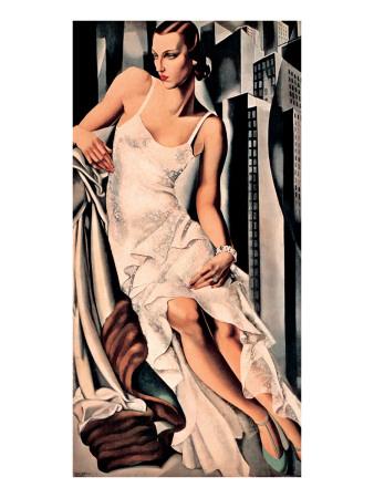 Porträt von Madame Allan Bott Giclée-Premiumdruck von Tamara de Lempicka