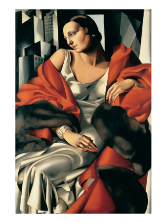 Portrait de Madame Boucard Giclée-Premiumdruck von Tamara de Lempicka