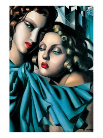 Les Jeunes Filles Giclée-Premiumdruck von Tamara de Lempicka