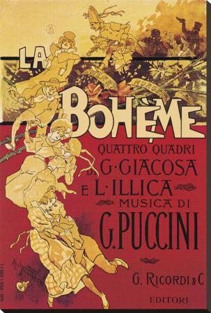 Puccini, La Boheme Lærredstryk på blindramme