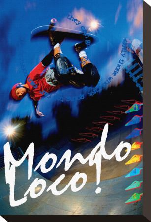 Mondo Loco! Stretched Canvas Print