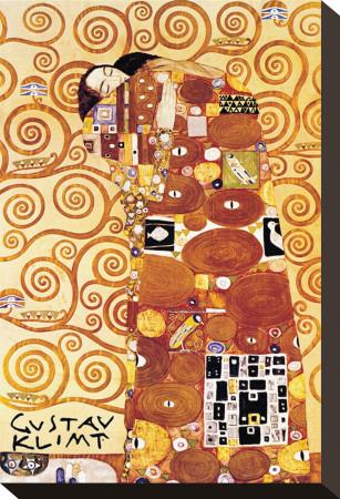 The Embrace Stretched Canvas Print by Gustav Klimt