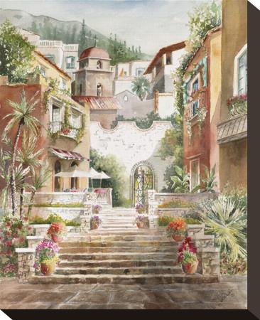 Taormina Entry Stretched Canvas Print by Rita Zaudke