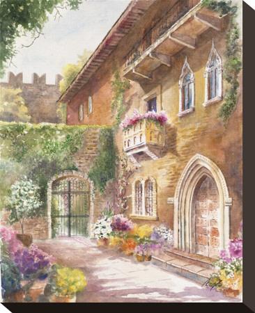 Juliet's Balcony Stretched Canvas Print by Rita Zaudke