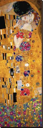 El beso (detalle) Reproducción de lámina sobre lienzo por Gustav Klimt