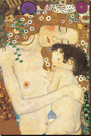 Moeder en Kind, ca. 1905 Kunst op gespannen canvas van Gustav Klimt