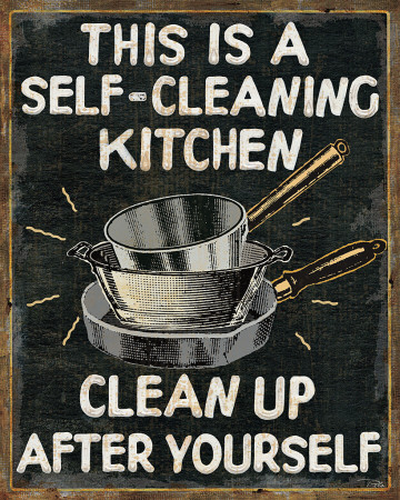Self Cleaning Kitchen Art Print