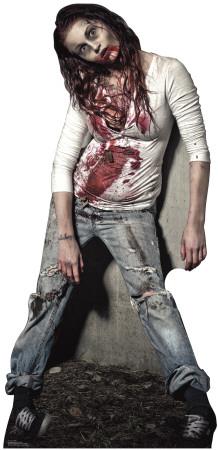 Zombie Girl Lifesize Standup Cardboard Cutouts