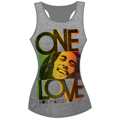 Juniors: Tank Top - One Love Smile T-Shirt