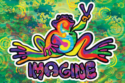 Peace Frog Imagine Poster