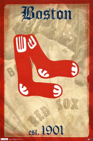 Red Sox -- Retro Logo Poster
