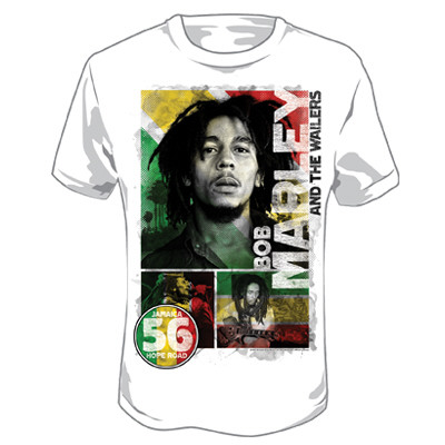 Bob Marley - 56 Hope Road Rasta T-Shirt