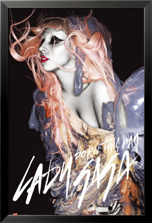 Lady Gaga - Grunge Orange Hair Lamina Framed Poster