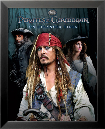 Pirates of the Caribbean - On Stranger Tides - Group Lamina Framed Poster
