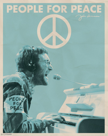 John Lennon People for Peace Miniposter