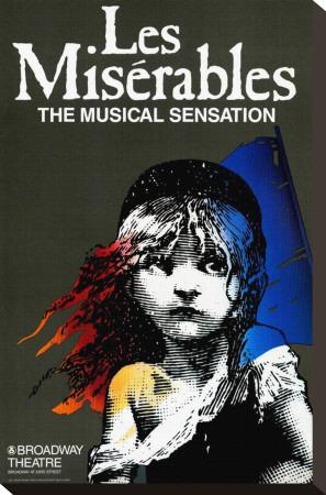 Les Miserables (Broadway) Stretched Canvas Print
