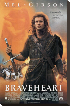 Braveheart Stretched Canvas Print