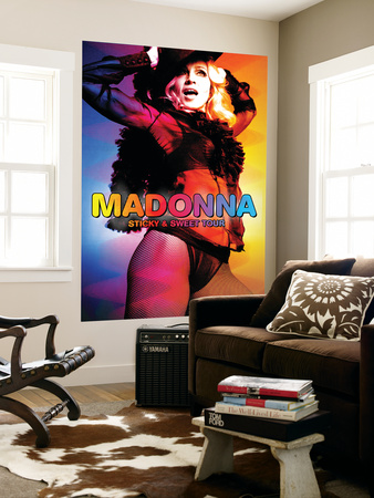 Concert Poster: Madonna, Sticky and Sweet Tour Mural