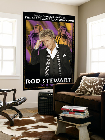 Concert Poster: Rod Stewart, Tour 2004 Mural