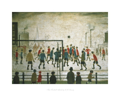 The Football Match Poster by Laurence Stephen Lowry