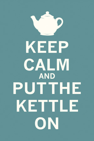 Keep Calm Tea Kunstdruck