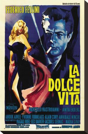 La Dolce Vita Stretched Canvas Print