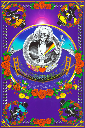 Deadheads Over The Golden Gate (Blacklight Poster - No Flocking) Prints