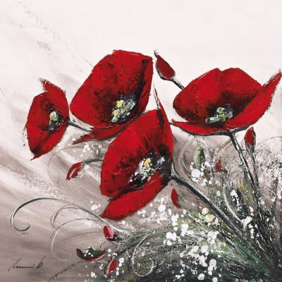 Bouquet de Coquelicots II Posters av Olivier Tramoni