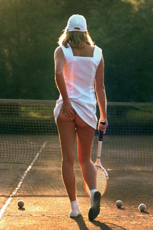 Tennispige Plakat