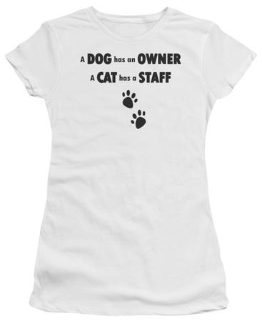 Juniors: Cat has a Staff T-Shirt