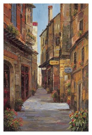 Village Alleyway Prints by A Herbert