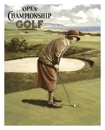 Open Championship Golf I Poster by Kevin Walsh