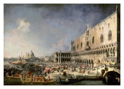 The Reception of the French Ambassador in Venice Art Print