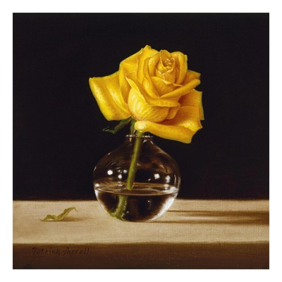 Rose jaune Reproduction d'art