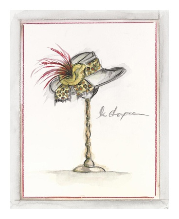 Vintage Chapeau II Prints by Celeste Peters