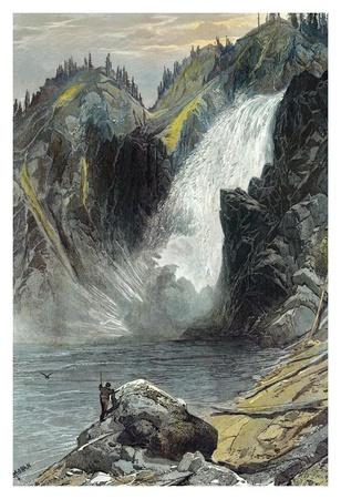 The Upper Yellowstone Falls Prints by Thomas Moran