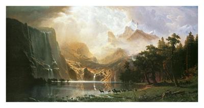 Sierra Nevada in California Posters by Albert Bierstadt